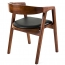 Sleek Wood Dining Arm Chair Image 1