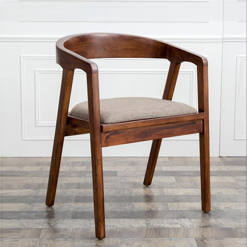 Sleek Wood Dining Arm Chair Image 3