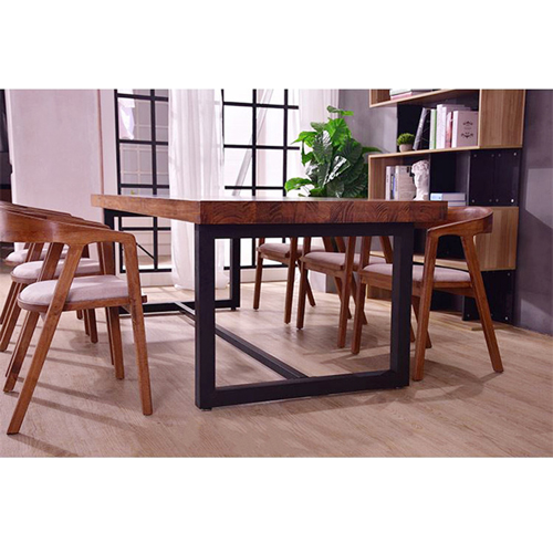 Sleek Wood Dining Arm Chair Image 7