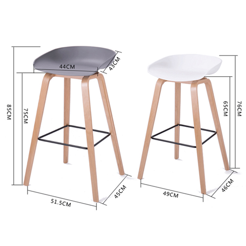 Briny Wooden Feet Bar Stool Image 17