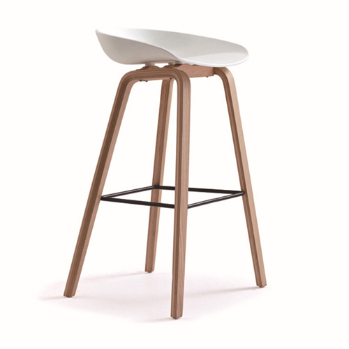Briny Wooden Feet Bar Stool Image 1