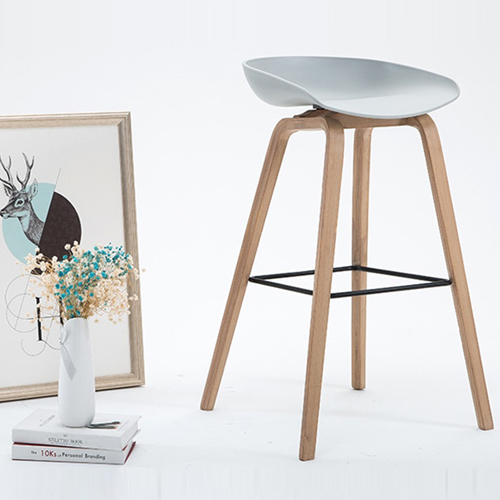 Briny Wooden Feet Bar Stool Image 2