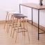 Briny Wooden Feet Bar Stool Image 5