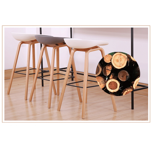 Briny Wooden Feet Bar Stool Image 6
