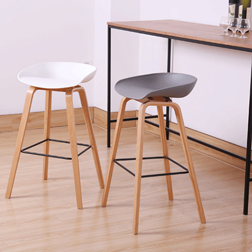 Briny Wooden Feet Bar Stool Image 7