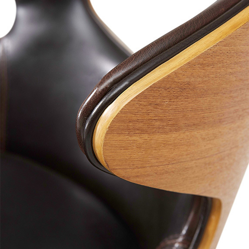 Bentwood Dining Leather Hole Chair Image 14