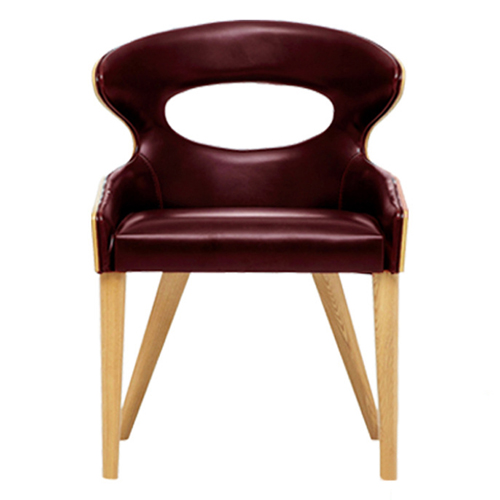 Bentwood Dining Leather Hole Chair Image 1