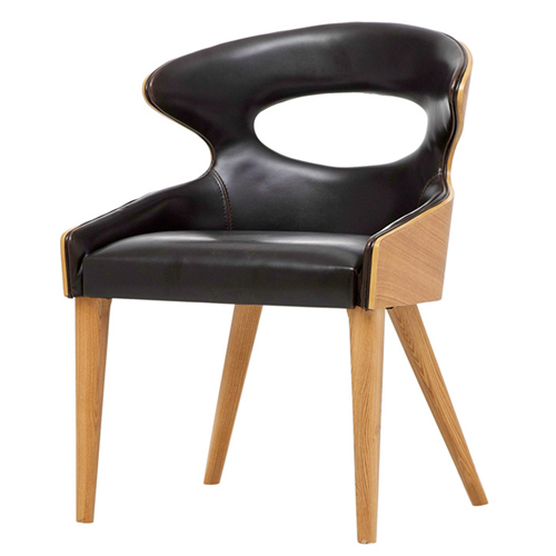 Bentwood Dining Leather Hole Chair Image 2