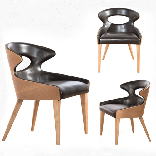 Bentwood Dining Leather Hole Chair Image 4
