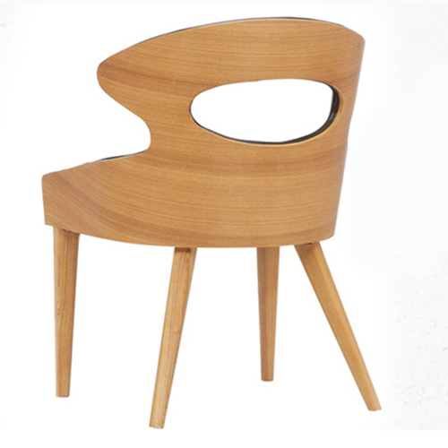 Bentwood Dining Leather Hole Chair Image 7