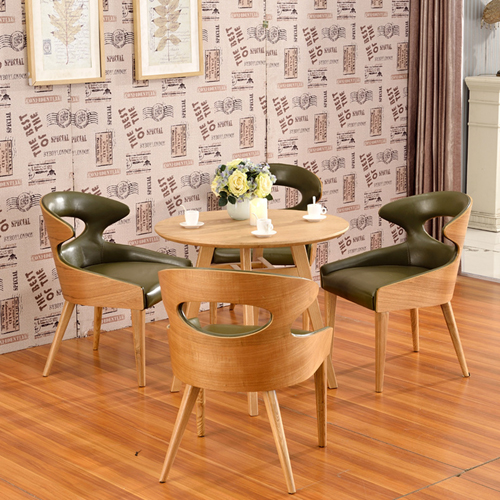Bentwood Dining Leather Hole Chair Image 8