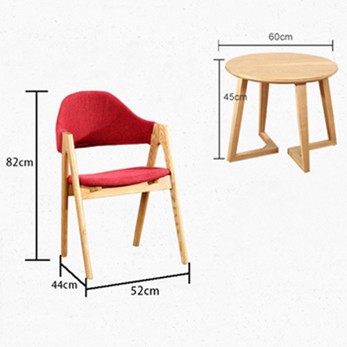 Wooden Curved Backrest Chair Image 12