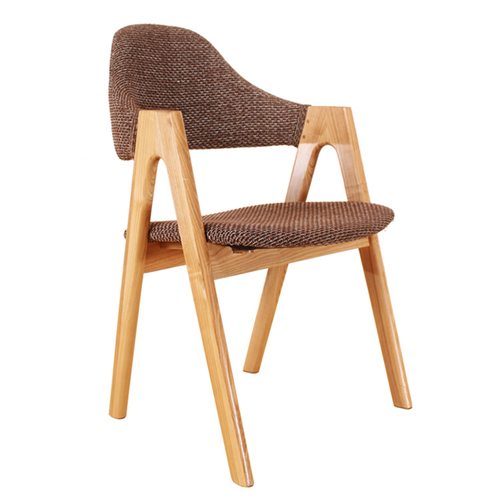 Wooden Curved Backrest Chair
