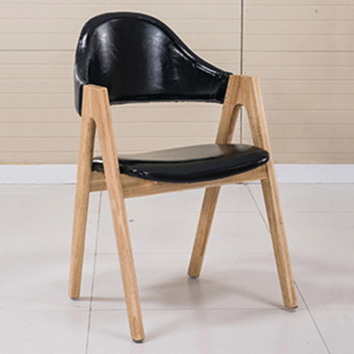 Wooden Curved Backrest Chair Image 2