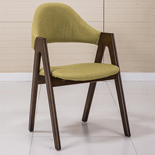 Wooden Curved Backrest Chair Image 3