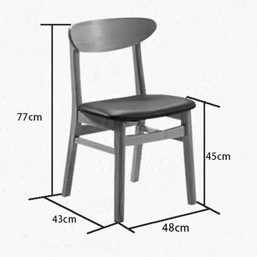 Distilitone Solid Wood Restaurant Table and Chairs Image 11