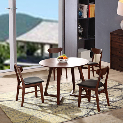 Distilitone Solid Wood Restaurant Table and Chairs Image 2