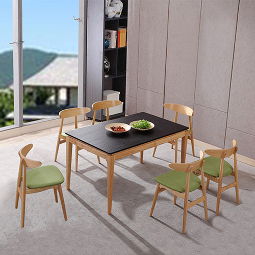 Distilitone Solid Wood Restaurant Table and Chairs Image 4