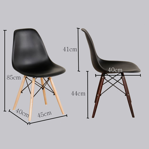 Emoltra Wooden Leg Dining Side Chair Image 12