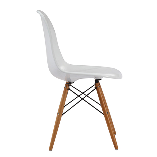 Emoltra Wooden Leg Dining Side Chair Image 2