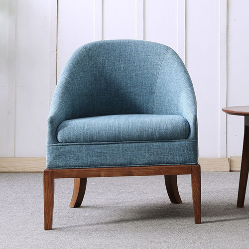 Accent Upholstered Barrel Chair Image 6