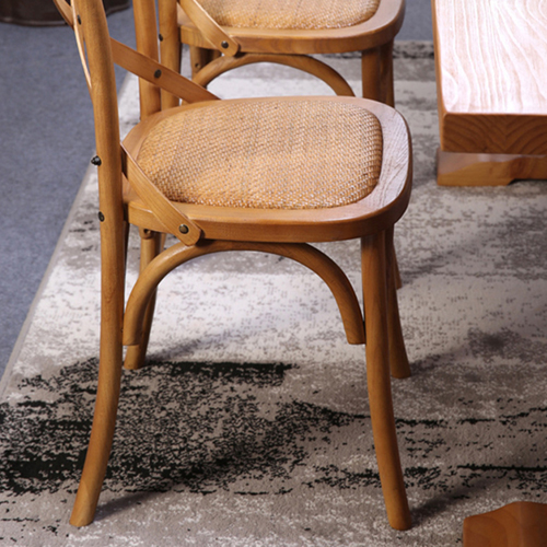 Cross Banded Back Restaurant Chair Image 9