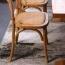 Cross Banded Back Restaurant Chair Image 9