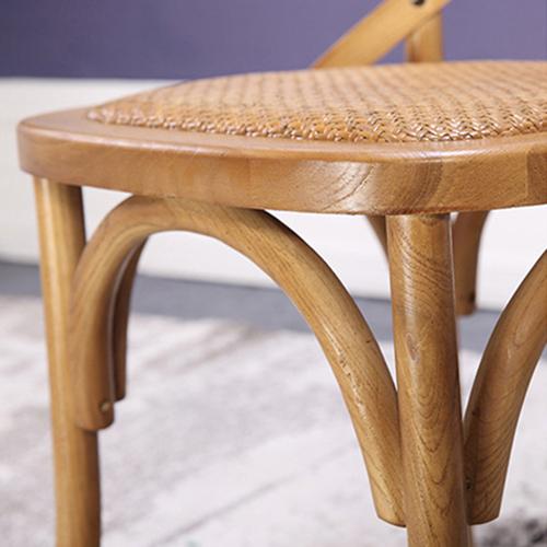 Cross Banded Back Restaurant Chair Image 12
