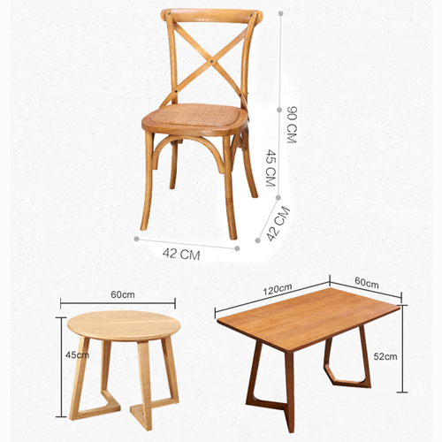 Cross Banded Back Restaurant Chair Image 13