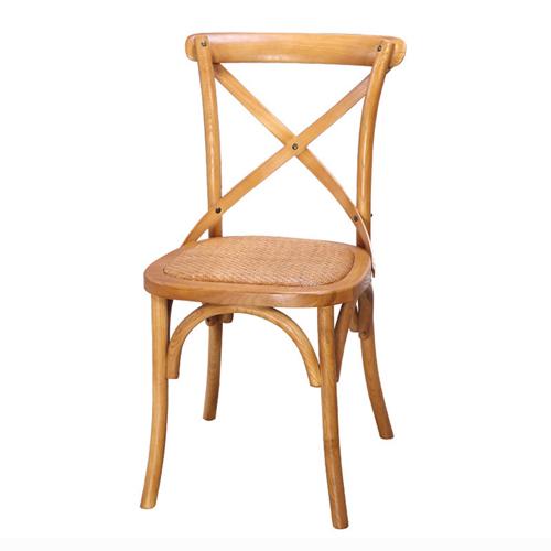 Cross Banded Back Restaurant Chair