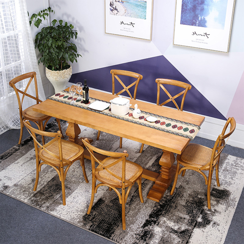 Cross Banded Back Restaurant Chair Image 1