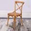 Cross Banded Back Restaurant Chair Image 3