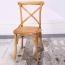 Cross Banded Back Restaurant Chair Image 4