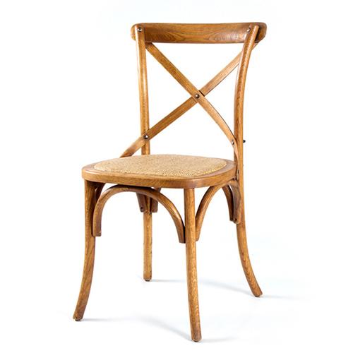 Cross Banded Back Restaurant Chair Image 6