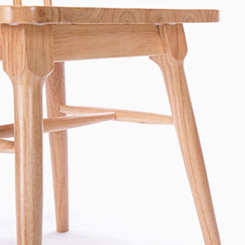 Clean-Cut Solid Wood Dining Chair Image 9