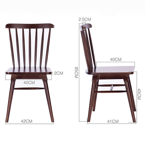 Clean-Cut Solid Wood Dining Chair Image 11