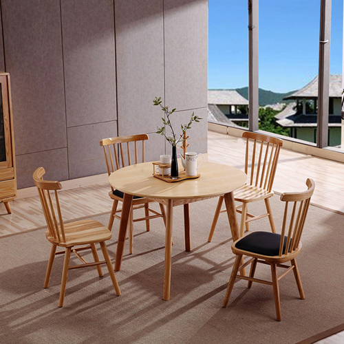Clean-Cut Solid Wood Dining Chair Image 1