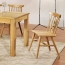 Clean-Cut Solid Wood Dining Chair Image 3