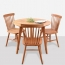 Clean-Cut Solid Wood Dining Chair Image 4
