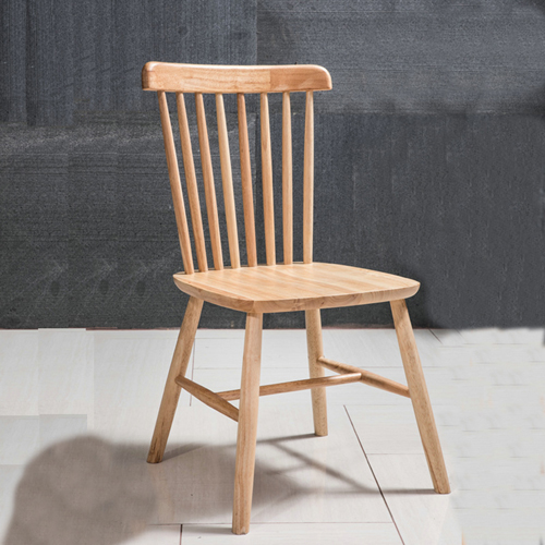 Clean-Cut Solid Wood Dining Chair Image 5