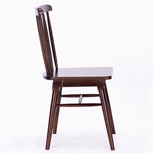 Clean-Cut Solid Wood Dining Chair Image 6