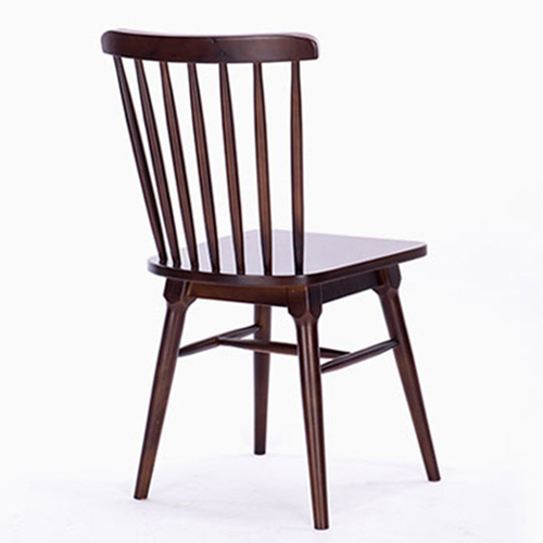 Clean-Cut Solid Wood Dining Chair Image 7
