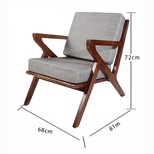 Cushion Wood Lounge Armchair Image 10