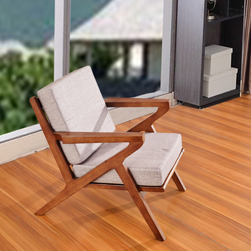 Cushion Wood Lounge Armchair Image 1