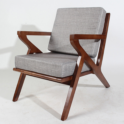 Cushion Wood Lounge Armchair Image 3
