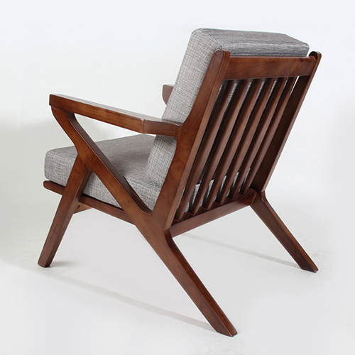 Cushion Wood Lounge Armchair Image 4