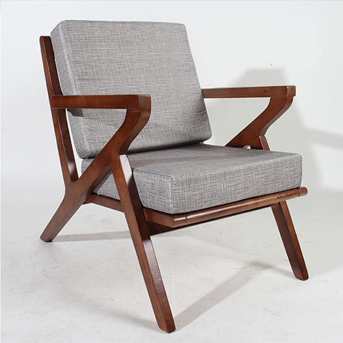 Cushion Wood Lounge Armchair Image 7