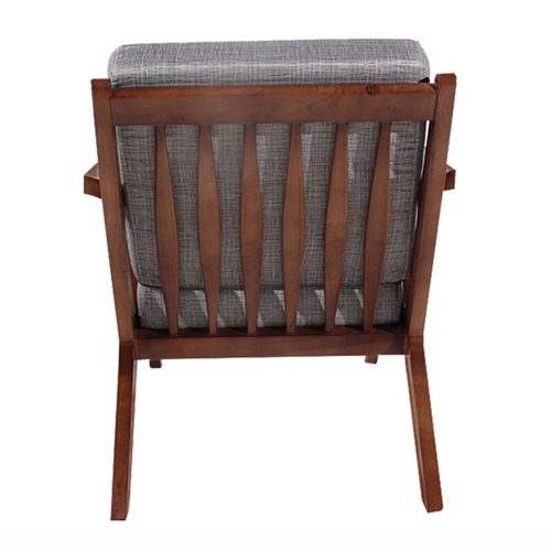 Cushion Wood Lounge Armchair Image 8