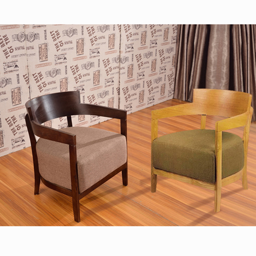 Dinette Wooden Frame Cushion Armchair Image 9