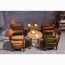 Dinette Wooden Frame Cushion Armchair Image 12